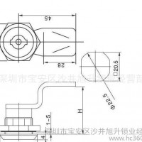 工业柜锁 电柜门锁 开关柜锁 旭升柜锁MS705三角芯